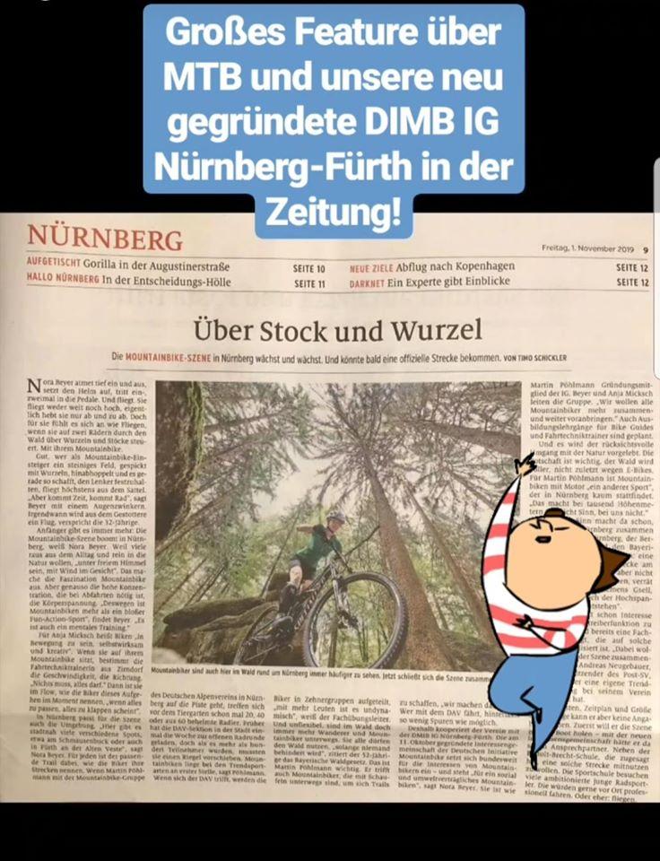 Die DIMB IG Nürnberg-Fürth in der Zeitung