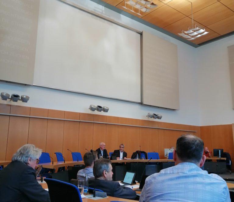 """Bericht unserer Teilnahme an der heutigen öffentlichen Sitzung der Sportkommission zum Projekt """"Bikepark"""" Schmausenbuck"""
