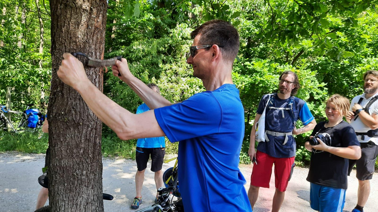 """""""Wanderer und Mountainbiker gehören zusammen"""" – Gemeinsame Wegepflege-Aktion des Fränkischen Albvereins e.V. und der DIMB IG Nürnberg-Fürth am 13.06.2020"""
