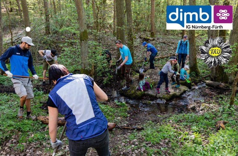 Wanderer und Mountainbiker für dieselbe Sache! – Gemeinsame Wegepflege-Aktion der DIMB IG Nürnberg-Fürth mit dem Fränkischen Albverein e.V.