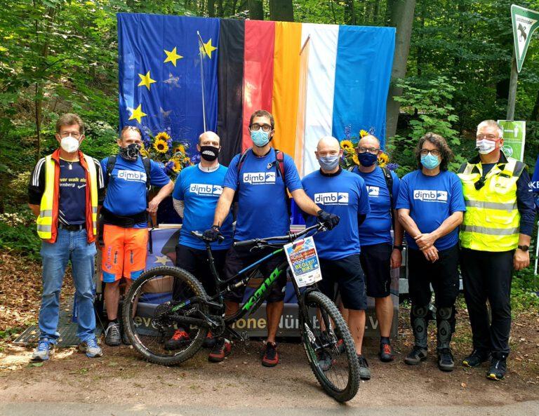 Wir als Begleit-Biker bei den Noris Nordic Walking Meisterschaften 2020